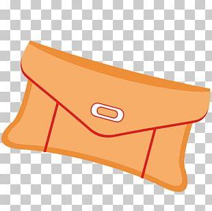 Orange Handbag Wallet PNG