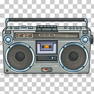 1980s Boombox Compact Cassette Panasonic Photography PNG