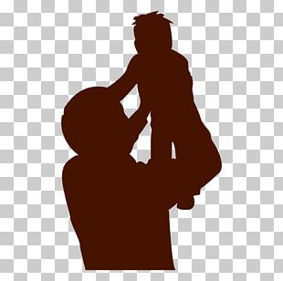 Father Silhouette Child Son PNG