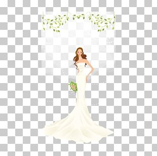 Wedding Dress Bride Ivory Gown PNG