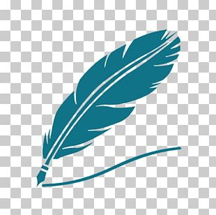 Paper Quill Pen Inkwell Drawing PNG