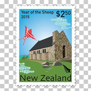 Papercutting Postage Stamps Chinese New Year Goat PNG