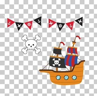 Piracy Ship PNG