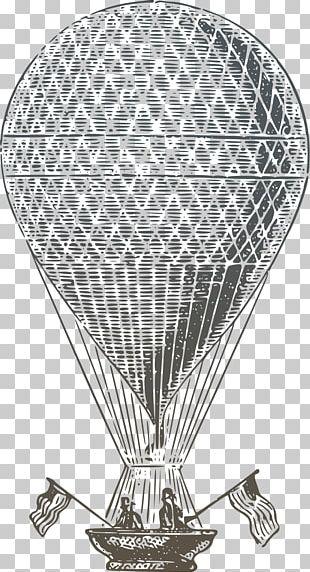 Hot Air Ballooning Drawing PNG