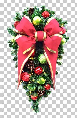 Floral Design Christmas Ornament Cut Flowers Wreath PNG