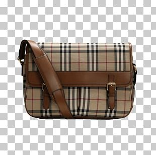 Tartan Burberry Messenger Bag Handbag PNG