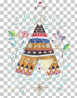 Tipi Watercolor Painting Indigenous Peoples Of The Americas Native Americans In The United States Illustration PNG