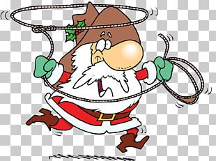 Santa Claus Cowboy Hat Christmas Lasso PNG