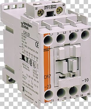Circuit Breaker Contactor Wiring Diagram Electrical Wires & Cable 100-C23A10 Allen Bradley PNG
