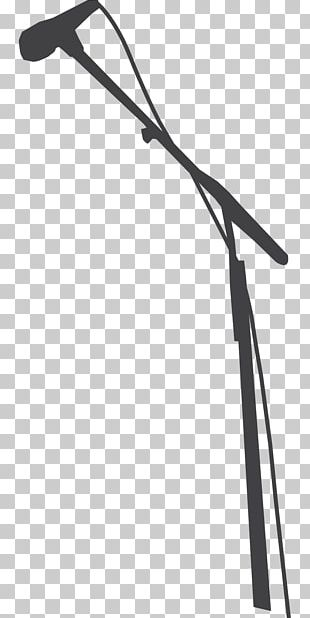 Microphone Stands Silhouette Drawing PNG