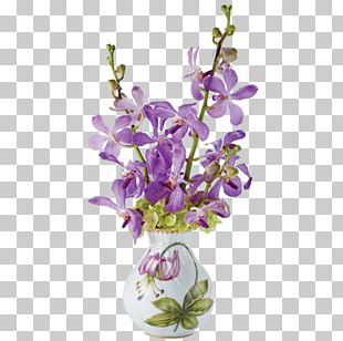 Vase Flower Purple Floral Design Lavender PNG