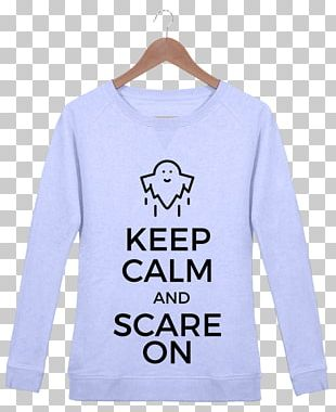 T-shirt Hoodie Keep Calm And Carry On Bluza Sweater PNG