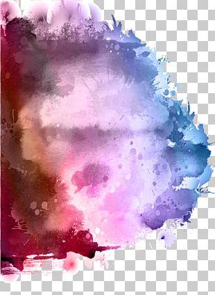 Watercolor Painting Ink Splash PNG
