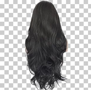 Hair Coloring Lace Wig Black Hair PNG
