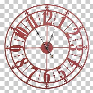 Skeleton Clock Wall Clocks Iron Black Metal Wall Clock PNG