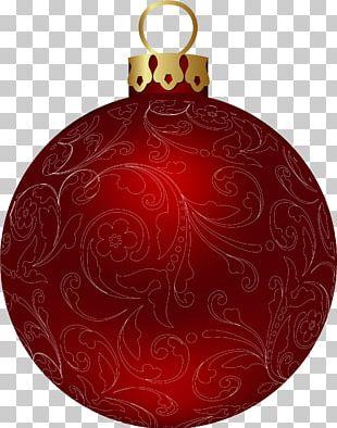 Christmas Ornament Christmas Decoration Ball Maroon PNG
