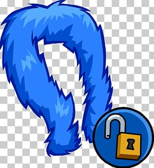 Feather Boa Blue PNG