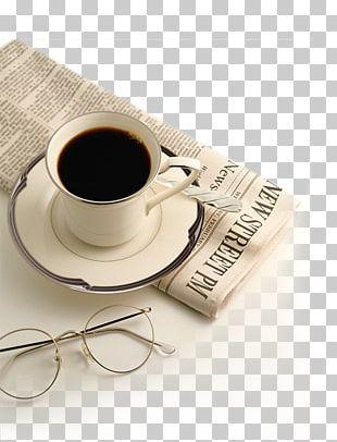 Coffeemaker French Press Espresso Machine Newspaper PNG