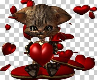 Kitten Whiskers Character Valentine's Day Fiction PNG