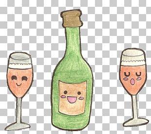 Champagne Glass Glass Bottle School Wine Glass PNG
