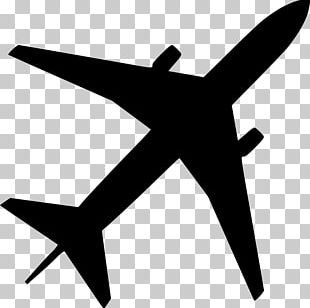 Airplane Silhouette Drawing PNG