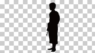 Black Silhouette White PNG