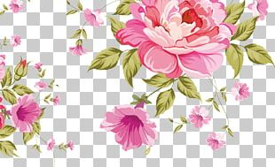 Pink Flowers Pattern PNG