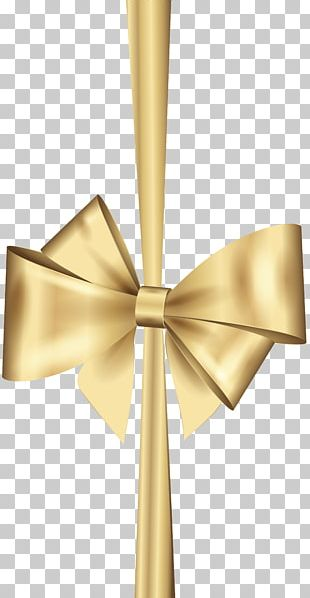 Gold Ribbon Christmas PNG