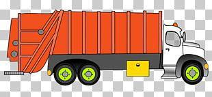 Car Pickup Truck Garbage Truck Waste PNG