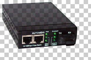 Fiber Media Converter Single-mode Optical Fiber Optical Fiber Cable Ethernet Hub PNG
