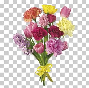 Flower Bouquet Carnation Tulip Cut Flowers PNG
