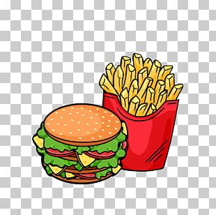 Hamburger Fast Food French Fries PNG