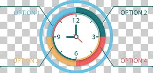 Timeline Clock Chart Infographic PNG