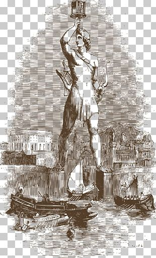 Colossus Of Rhodes Statue Of Liberty Lighthouse Of Alexandria Ancient Greece Seven Wonders Of The Ancient World PNG