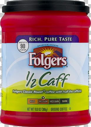 Instant Coffee Folgers Decaffeination Coffee Roasting PNG