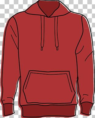 Red Hoodie Sweater Clothing PNG