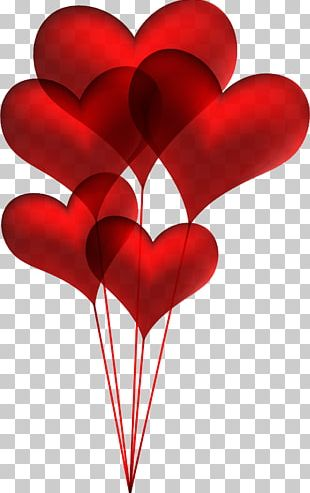 Balloon Heart Valentine's Day PNG