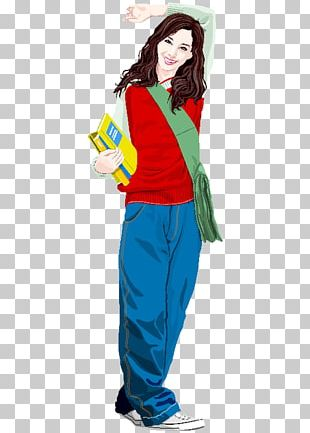 Student Cartoon Graphic Design PNG