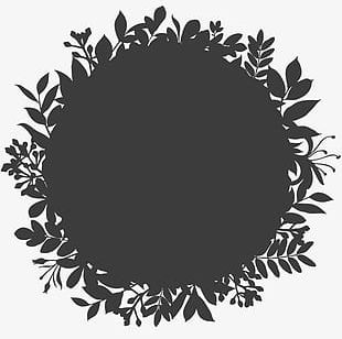 Black Logo Background Shading Pattern Garland PNG