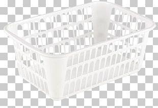 Basket Plastic Handle Laundry Room PNG