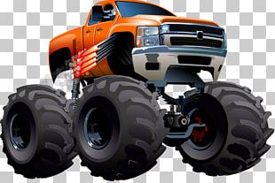 Pickup Truck Cartoon Monster Truck PNG
