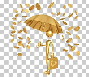 Gold Coin Stock Photography Rain PNG