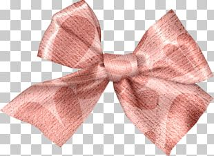 Bow Tie Hair Tie Ribbon Pink M Yellow PNG