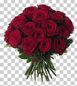 Flower Bouquet Rose Red PNG
