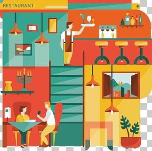 Restaurant Flat Design Illustration PNG
