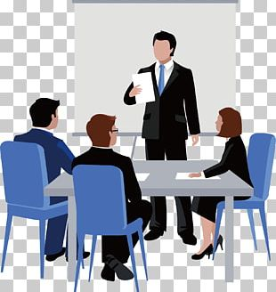Meeting Euclidean Business Illustration PNG