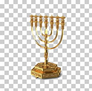Temple In Jerusalem Menorah Candlestick PNG