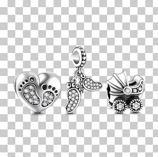 Earring Body Jewellery Charm Bracelet Silver PNG