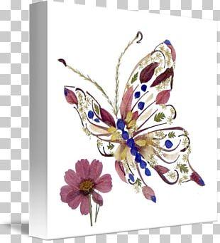 Pressed Flower Craft Floral Design Art Nouveau PNG