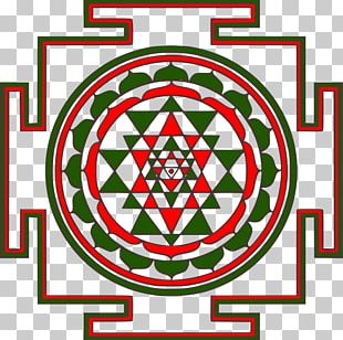 Sri Yantra Mandala Sacred Geometry PNG